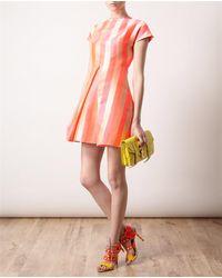 House of Holland Pink Striped Silkblend Dress