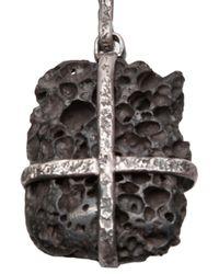 Lou Zeldis - Metallic Rock Necklace - Lyst