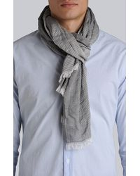7 For All Mankind Gray Scarf Light Grey for men