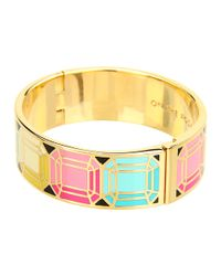 kate spade new york - Metallic On The Rocks Hinged Idiom Bangle - Lyst