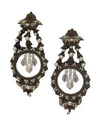 Ranjana Khan | White Pearl and Bullion Earrings | Lyst