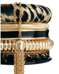 River Island - Metallic Leopard Bangle Pack - Lyst