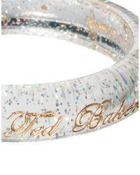 Ted Baker - Metallic Glitter Resin Bangle - Lyst
