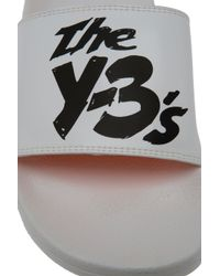 Y-3 | White Logo Slides for Men | Lyst