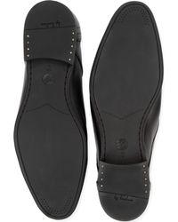 H by Hudson Black Thursom Chukka Boots for men