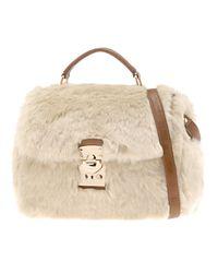 ALDO Natural Aldo Ostermiller Faux Fur Handbag