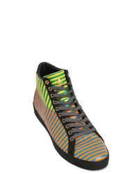 Opening Ceremony Multicolor Rod Laver Vintage High Leather Sneakers for men
