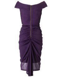 Adrianna Papell Purple Adrianna Papell Twist Front Dress Aubergine