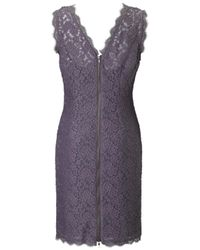 Adrianna Papell Gray Adrianna Papell Sleeveless Lace Dress Charcoal