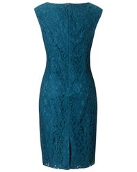 Adrianna Papell Blue Adrianna Papell Lace Sheath Dress Teal