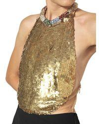 Alexander McQueen | Black Jewelled Leaf Viscose Crepe Long Dress | Lyst
