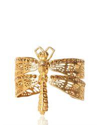 Alexander McQueen Metallic Dragonfly Bracelet