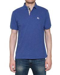 Burberry Brit | Blue Cotton Piquet Polo Shirt for Men | Lyst