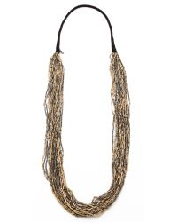 Chan Luu | Metallic Beaded Necklace | Lyst