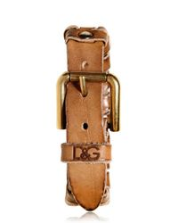 Dolce & Gabbana | Brown Vintaged Studded Leather Bracelet for Men | Lyst