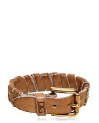 Dolce & Gabbana   Brown Vintaged Studded Leather Bracelet for Men   Lyst