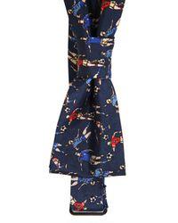 Dolce & Gabbana | Blue Silk Football Bow Tie for Men | Lyst