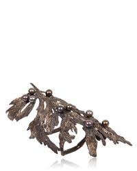 Dominique Lucas - Metallic Juniper Two Tone Bronze Cuff Bracelet - Lyst