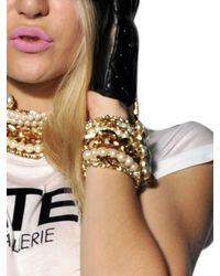 DSquared² White Swarovski Multi Chain Bracelet