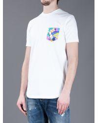 DSquared² White Toucan Print Tshirt for men
