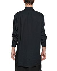 Givenchy | Black Madonna Cotton Canvas Oversized Shirt for Men | Lyst