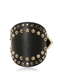 Givenchy Metallic Studded Leather Cuff Bracelet