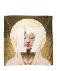 Givenchy White Madonna 17 Printed Cotton Modal Scarf for men