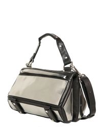 Golden Lane - Medium Metallic Leather Duo Satchel - Lyst