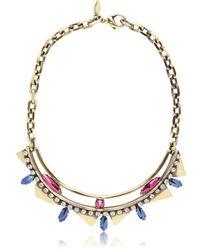 Iosselliani | Metallic Deco Blue Necklace | Lyst