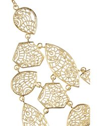 Isharya Metallic 18karat Goldplated Filigree Necklace
