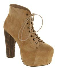 Lyst jeffrey campbell lita platform ankle boot in natural - Jeffrey campbell lita platform boots ...