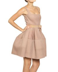 Lanvin - Pink Techno Net Baby Doll Dress - Lyst