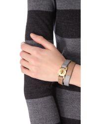 Marc By Marc Jacobs | Black Katie Double Wrap Leather Bracelet | Lyst