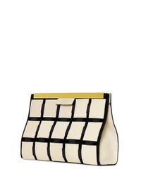 Marni White Patchwork Leather Clutch
