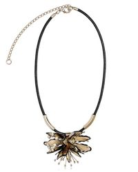Marni - White Horn and Leather Flower Necklace - Lyst