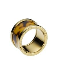Michael Kors | Metallic Tortoise-design Barrel Ring | Lyst