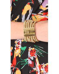 Michael Kors Metallic Bead Turn Lock Bracelet