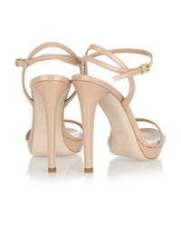 Miu Miu Natural Patent-leather Sandals
