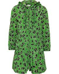Miu Miu   Green Star-print Raincoat   Lyst