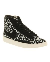 Nike Blazer Mid Black Sail Leopard for men