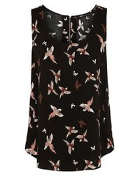 Oasis Multicolor Oasis Bird and Butterfly Vest Top Multi