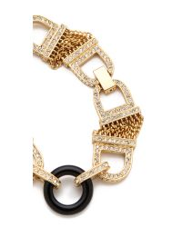 Rachel Zoe - Metallic One Row Bracelet - Lyst