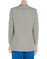 Stella McCartney - Blue Striped Cotton-seersucker Blazer - Lyst