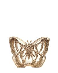 Valentino Metallic Jewel Plexiglass Butterfly Clutch