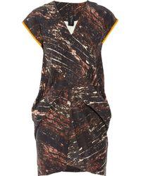 Zero + Maria Cornejo | Brown Toia Mini Dress | Lyst