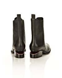 Alexander Wang - Black Anouck Boot With Rose Gold - Lyst