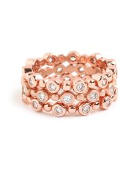 BaubleBar | Pink Rose Stack Ring Trio | Lyst