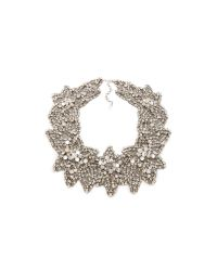 Jenny Packham | Metallic Acacia Necklace - Silver | Lyst