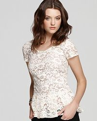 Madison Marcus | White Top Lace Peplum | Lyst
