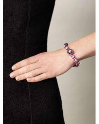 Shourouk - Pink Baraka Flower Bracelet - Lyst